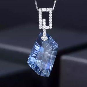 Lolite Blue Mystic Topaz & Silver Necklace 1002500